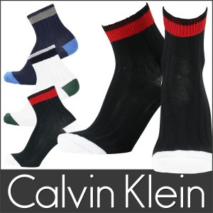 Calvin Klein カルバンクライン ミドル丈 メンズ ソックス 抗菌防臭 太リブ ミドル ソックス ポイント10倍|glanage