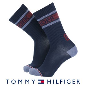 TOMMY HILFIGER トミーヒルフィガー クルー丈 メンズ ソックス ロゴデザイン クルー ソックス ポイント10倍|glanage