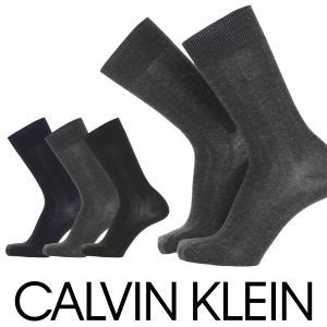 Calvin Klein カルバンクライン ビジネス 毛混 抗菌防臭 リンクス柄 メンズ クルー丈 ソックス 靴下 ポイント10倍 glanage