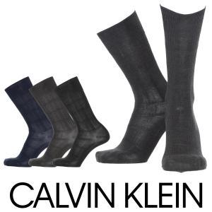 Calvin Klein カルバンクライン ビジネス 吸湿発熱 リンクスチェック柄 メンズ クルー丈 ソックス 靴下 ポイント10倍|glanage