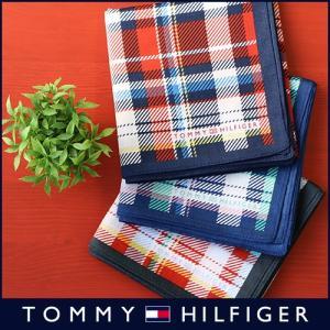TOMMY HILFIGER トミーヒルフィガー ブランド バイアス チェック柄 綿100% ハンカチ 2582-106 メンズ 彼氏 ポイント10倍|glanage