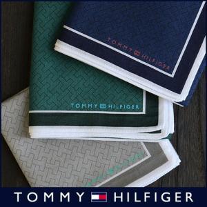 TOMMY HILFIGER トミーヒルフィガー ブランド モノグラム柄 綿100% ハンカチ 2582-107 メンズ 彼氏 ポイント10倍|glanage