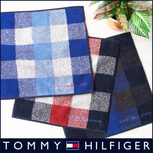 TOMMY HILFIGER トミーヒルフィガー ブロックチェック柄 タオル ハンカチ ポイント10倍