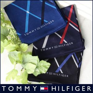 TOMMY HILFIGER トミーヒルフィガー ダイアゴナルチェック柄 ハンカチ メンズ プレゼント 贈答 ギフト ポイント10倍|glanage
