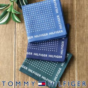 TOMMY HILFIGER トミーヒルフィガー ドット柄 ハンカチ ポイント10倍 ブランドギフト包装無料|glanage
