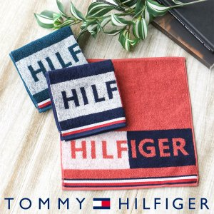 TOMMY HILFIGER トミーヒルフィガー ロゴ タオル ハンカチ(ミニタオル) ポイント10倍 ブランドギフト包装無料|glanage