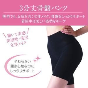 3分丈 骨盤パンツ \履いて実感/ 美姿勢・美尻・立体メイク ALLONGE アロンジェ ポイント10倍 glanage