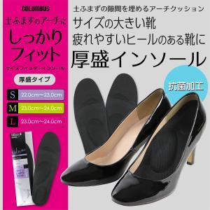 フットソリューション サイズフィッター インソール 厚盛タイプ(女性用) カカトのあるパンプス・ブーツに COLUMBUS 3901-018 ポイント10倍|glanage