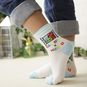 ガチャピン × ムック 子供 キッズ ソックス 靴下 ガチャピン・ムック甲メッシュソックス 4167-061 ポイント10倍|glanage
