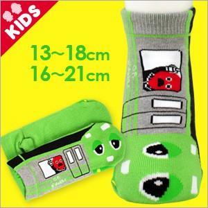ガチャピン × ムック 子供 キッズ ソックス 靴下 ガチャピン・ムック なりきりガチャの手線ソックス 4167-106 ポイント10倍|glanage