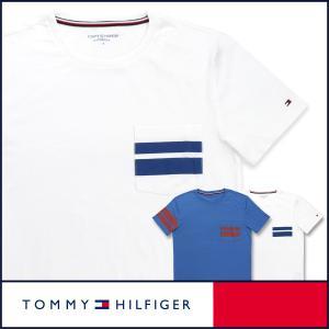 TOMMY HILFIGER トミーヒルフィガー Tシャツ クルーネック 半袖 ストライプ メンズ ポイント10倍