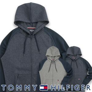 TOMMY HILFIGER トミーヒルフィガー FLAG TECH HOODY LS フラッグ テック ジップアップ パーカー メンズ ポイント10倍 メール便不可|glanage