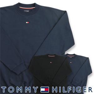 TOMMY HILFIGER トミーヒルフィガー FLAG CORE FLEECE CN TRACK TOP LS フラッグ コア 裏地フリース クルーネック 長袖 スウェットシャツ トレーナー メンズ|glanage