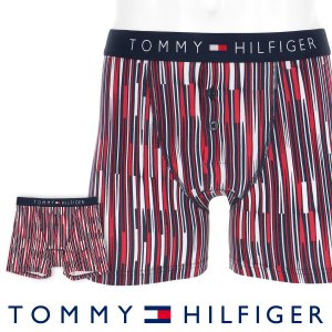 TOMMY HILFIGER トミーヒルフィガー ボクサーパンツ JAPAN LIMITED 日本限定 COTTON ICON BUTTON FLY BOXER BRIEF LOGO STRIPE ポイント10倍|glanage