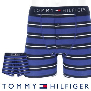 TOMMY HILFIGER トミーヒルフィガー ボクサーパンツ JAPAN LIMITED 日本限定 COTTON ICON BUTTON FLY BOXER BRIEF STRIPE ポイント10倍|glanage