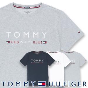 TOMMY HILFIGER トミーヒルフィガー 【COTTON ICON】 CN TEE SS LOGO FLAG コットン100% ロゴ 半袖 Tシャツ メンズ ポイント10倍|glanage