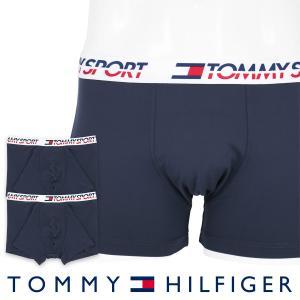 TOMMY HILFIGER トミーヒルフィガー ボクサーパンツ 2枚組 TOMMY SPORT COTTON 2P TRUNK CORE スポーツ コットン ボクサーパンツ ポイント10倍|glanage