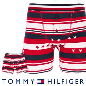 TOMMY HILFIGER トミーヒルフィガー ボクサーパンツ MODERN STRIPE COTTON BUTTONFLY BOXER BRIEF STAR STRIPE  ポイント10倍|glanage