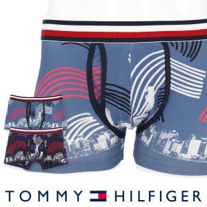 TOMMY HILFIGER トミーヒルフィガー MODERN STRIPE COTTON KEYHOLE TRUNK PHOTO ボクサーパンツ ポイント10倍|glanage