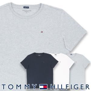 TOMMY HILFIGER トミーヒルフィガー COTTON TEE SS LOGO FLAG ICON コットン100% ワンポイント ロゴ 半袖 Tシャツ メンズ ポイント10倍|glanage