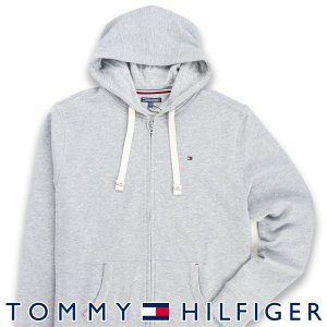 TOMMY HILFIGER トミーヒルフィガー ZIP THRU HOODY ワンポイント ロゴ ジップアップ パーカー メンズ ポイント10倍 メール便不可|glanage