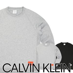 Calvin Klein Monogram Lounge カルバンクライン モノグラム ラウンジ コットン クルーネック スウェットシャツ トレーナー NM1553AD ポイント10倍 メール便不可|glanage