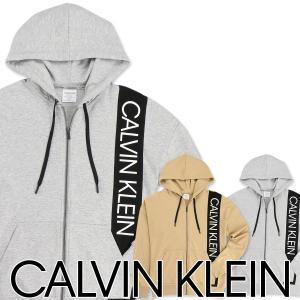 Calvin Klein Statement Graphic Lounge カルバンクライン・ステートメントグラフィック ラウンジ コットン ジップアップ 長袖 パーカー NM1630 ポイント10倍|glanage