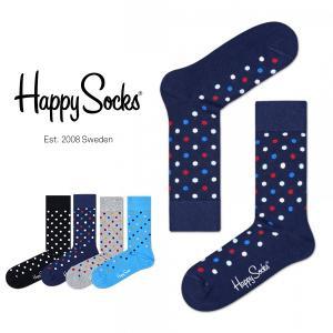 Happy Socks ハッピーソックス ESSENTIALS-DOT クルー丈 綿混 ソックス 靴下ユニセックス メンズ&レディス h605028|glanage