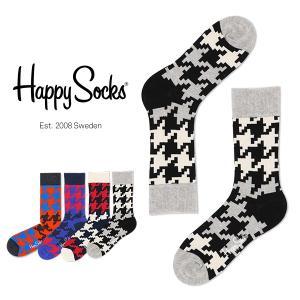 Happy Socks ハッピーソックス DOG TOOTH クルー丈 綿混 ソックス 靴下ユニセックス メンズ&レディス h605086 glanage