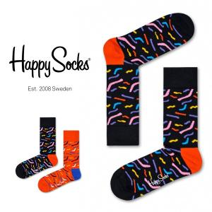 Happy Socks ハッピーソックス PAPERCUT クルー丈 綿混 ソックス 靴下ユニセックス メンズ&レディス h605100 glanage