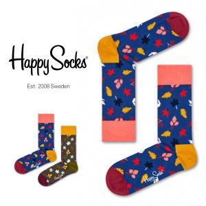 Happy Socks ハッピーソックス FALL クルー丈 綿混 ソックス 靴下ユニセックス メンズ&レディス h605104 glanage