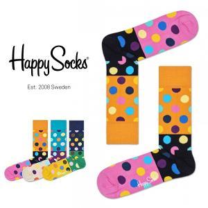Happy Socks ハッピーソックス BIG DOT BLOCK クルー丈 綿混 ソックス 靴下ユニセックス メンズ&レディス h605125 glanage