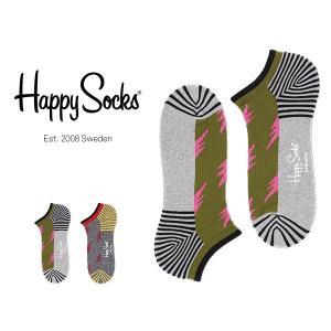 Happy Socks ハッピーソックス FLASH Athletic スニーカー丈 パフォーマンス 綿混 ソックス 靴下ユニセックス メンズ&レディス h605324 glanage