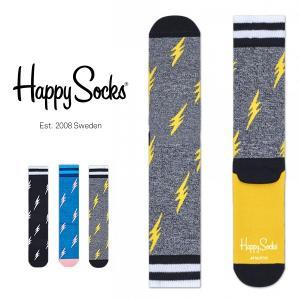 Happy Socks ハッピーソックス FLASH Athletic クルー丈 パフォーマンス 綿混 ソックス 靴下ユニセックス メンズ&レディス h605527|glanage