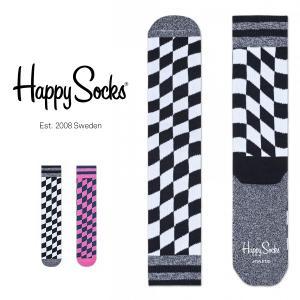 Happy Socks ハッピーソックス FLAG Athletic クルー丈 パフォーマンス 綿混 ソックス 靴下ユニセックス メンズ&レディス h605545|glanage