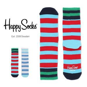 Happy Socks ハッピーソックス STRIPE Athletic クルー丈 パフォーマンス 綿混 ソックス 靴下ユニセックス メンズ&レディス h605546|glanage
