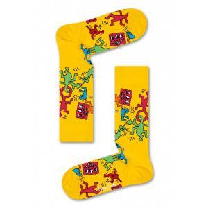 Happy Socks ハッピーソックス KEITH HARING-2 【Limited】 Happy Socks×Keith Haring 綿混 クルー丈 ソックス 靴下ユニセックス メンズ&レディス h605834|glanage