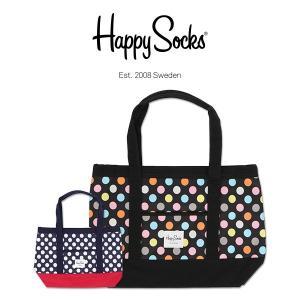 Happy Socks ハッピーソックス BIG DOT ( ビッグ ドット ) トート バッグ ユニセックス メンズ & レディス h608100|glanage