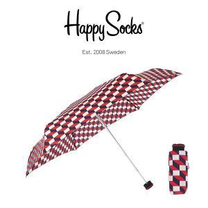 Happy Socks ハッピーソックス 折り畳み傘 ミニサイズ 直径86cm FILLED OPTIC ( フィルド オプティック ) 雨傘 雨具 ユニセックス メンズ & レディス h608503|glanage