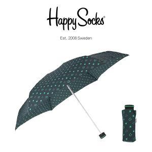 Happy Socks ハッピーソックス 折り畳み傘 ミニサイズ 直径86cm LUCKY MINI ( ラッキー ミニ ) 雨傘 雨具 ユニセックス メンズ & レディス h608505|glanage