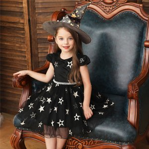 商品の説明   ハロウィン 衣装 ワンピース 女の子 星柄 ハロウィーン ハロウィン衣装 子供 魔女...
