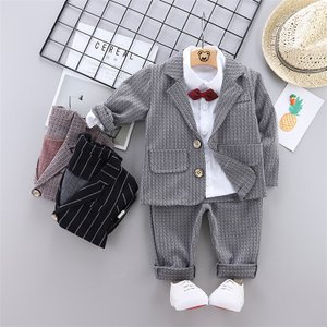 子供 スーツ 男の子 フォーマル スーツ 3点セット ジャケット+ズボン+シャツ キッズ 入学式 卒...