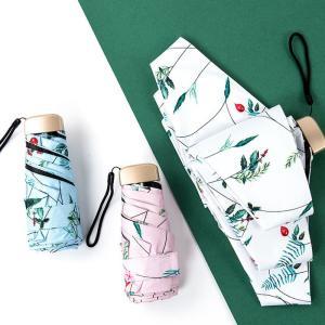 かさ 傘 折りたたみ傘 折り畳み傘 軽量日傘 5段折り 雨具 晴雨兼用 遮光 遮熱 雨傘 撥水 花柄 レディース UVカット率99.9%  おしゃれ|glanz-shop