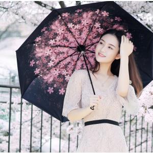 かさ 傘 折りたたみ傘 折り畳み傘 軽量日傘  メンズ5段折り 3段折り 桜柄 雨具 晴雨兼用 遮光 遮熱 雨傘 撥水 レディース UVカット率99.9%  おしゃれ|glanz-shop