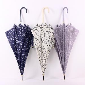 長傘 レディース 長柄 遮光 遮熱 UVカット 紫外線対策撥水加工 軽量  星柄長傘 日傘 雨傘 晴雨兼用 可愛い 女性用きれいめ|glanz-shop