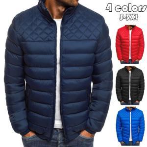 中綿ジャケット メンズ 防寒ジャケット 短装 立ち襟 中綿コート 綿入れ アウター ジャンパー 防風保温 あったか 暖かい ジャケット 大きいサイズ あたたか 冬服|glanz-shop