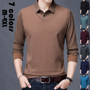 ポロシャツ メンズ トップス 大きいサイズ 厚手 長袖 切り替え Tシャツ トレンド ゴルフウェア おしゃれ スポーツ 秋冬 ゴルフ シャツ 紳士服 カジュアル 7色 glanz-shop