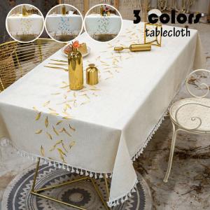 テーブルクロス 北欧 おしゃれ テーブルセッティング 布 四角形 長方形 刺繍 綿麻 フリンジ裾 高級感 テーブルクロス お手入れ簡単 汚れ防止 家庭用 食卓カバー|glanz-shop