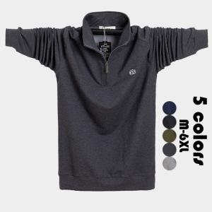 ポロシャツ メンズ 立ち襟トップス 大きいサイズ 長袖 ファッション トレンド ゴルフウェア おしゃれ スポーツ 春秋 ゴルフ シャツ 紳士服 カジュアル 5色選べる glanz-shop