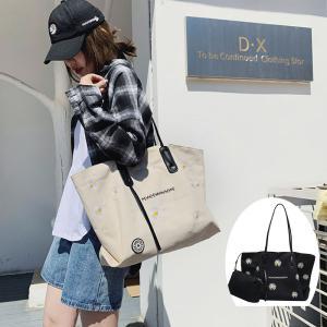 トートバッグ レディース ズック ショルダーバッグひな菊柄 2way ファッション 鞄 通勤用 バッグ シンプル かばん 肩掛け 多機能 通学 通勤 旅行 人気 韓国風|glanz-shop